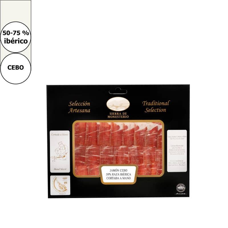 Hand sliced Iberian Bait-fed ham